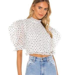Majorelle Puff sleeve blouse
